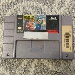 Super Nintendo Mario is Missing Game